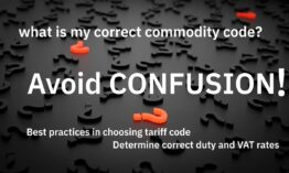 Avoid confusion in choosing commodity code